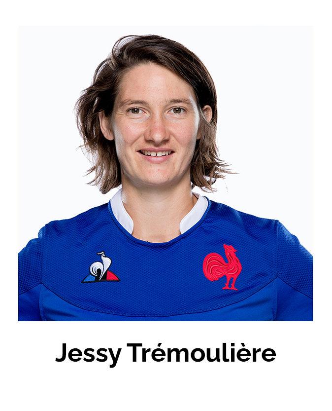 Portrait de Jessy Trémoulière, joueuse de Rugby