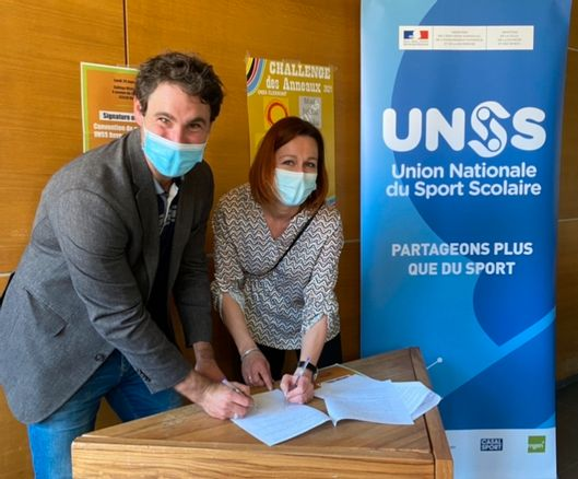 Article La Montagne partenariat UNSS Landestini