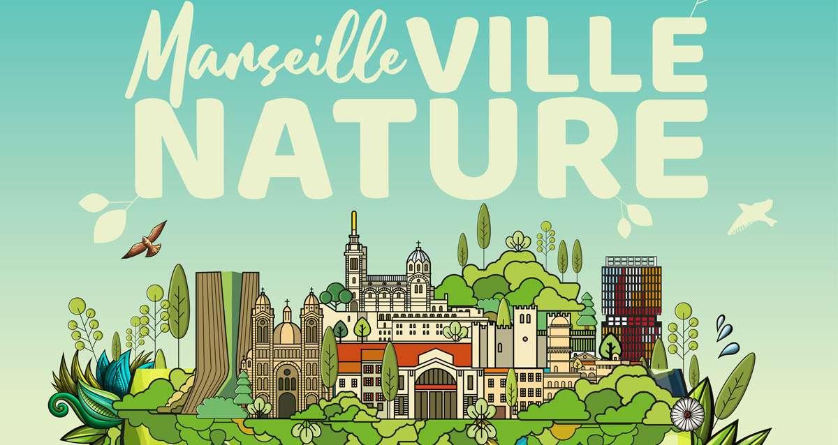 Affiche du congrès mondial de la nature à marseille